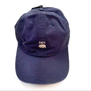 🌸🌵🌼'Papa Bear' Hat, NWT Navy Blue